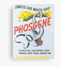 Vintage poster - Phosgene Canvas Print