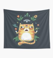 The All Knowing Cat Wall Tapestry