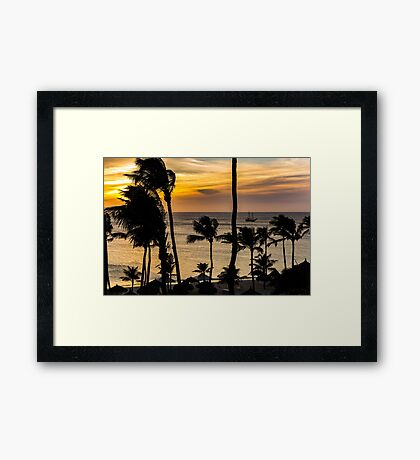 Aruba Sunset 2 Framed Print