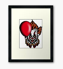 Traditional Pennywise the Dancing Clown Framed Print