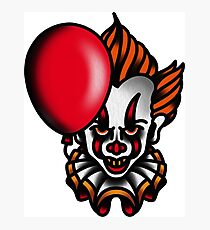 Traditional Pennywise the Dancing Clown Photographic Print