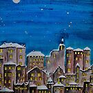 Winter City at Night by FrancesArt