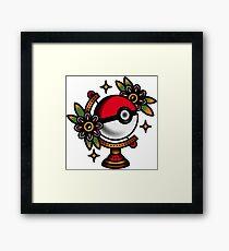 Traditional Pokeball Tattoo Piece Framed Print