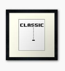 Classic Gaming Galaga Style Framed Print