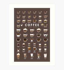 Lámina artística Tabla de café