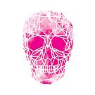 Crystal Skull Rosa Fuerte   #Pink #Geometric #Triangle #Watercolor #Paint #Halloween #Popart by ANTHROPOLESLEY