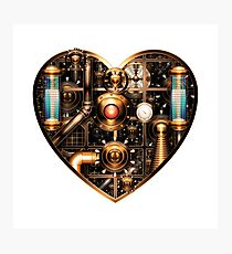 Steampunk Heart Photographic Print