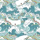 Wale und Wellen Muster von freeminds