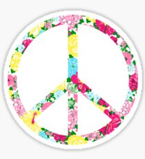Lilly Peace Sign Sticker