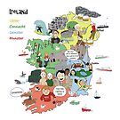 Map of Ireland by Literary Publishing