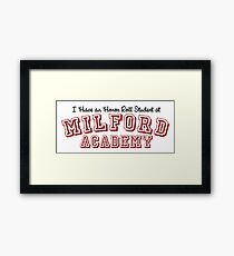 you can always tell a milford man Framed Print