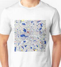 London Piet Mondrian Style City Street Map Art T-Shirt