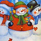 3 Happy Snowmen by FrankieCat
