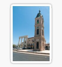 Israel, Jaffa, The Old clock tower in Jaffa, Clock Square, built in 1906 in honor of Sultan Abed al-Hamid II's 25th anniversary, became the center of Jaffa, and it is centered between Jaffa's markets Sticker