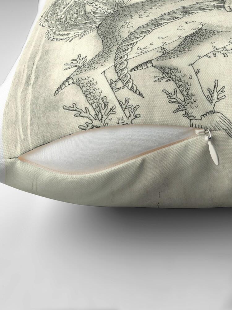 Alternate view of Aquaricornius Throw Pillow