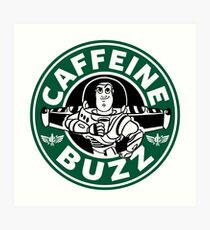 Koffein-Summen Kunstdruck