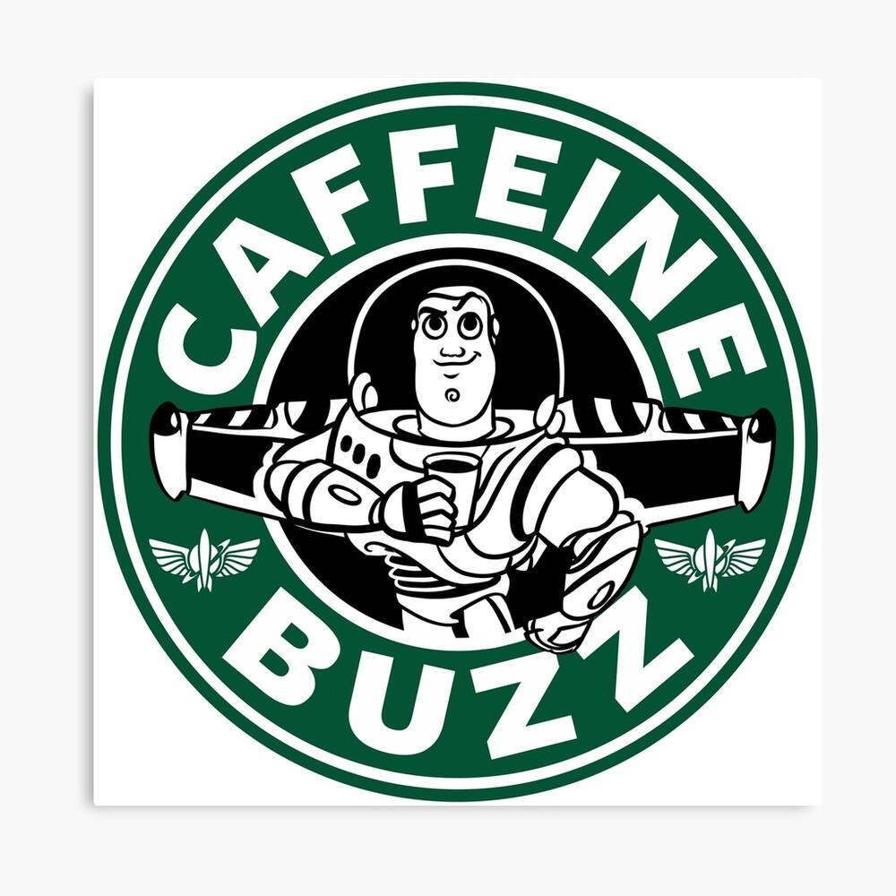 Koffein-Summen Leinwanddruck