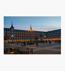 Plaza Mayor, Madrid, Spain Equestrian statue of King Philip III in the centre  Photographic Print