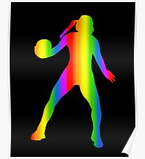 Colorful Handball Rainbow Sticker Poster