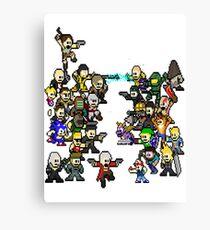 Epic 8 bit Battle! Canvas Print