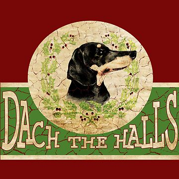 Adorable Dachshund Vintage Christmas by RiffXS