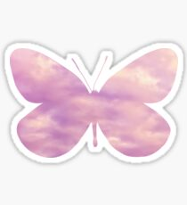 Dreamy Pink Abstract Butterfly Sticker