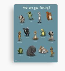 How Are You Feeling? (Blue) Canvas Print