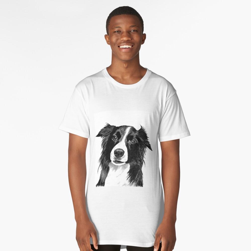 Border Collie Long T-Shirt Front