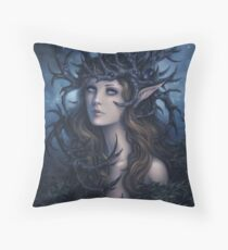 Horned crown Throw Pillow
