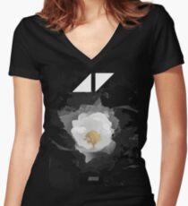 avicii Music the flower Women's Fitted V-Neck T-Shirt