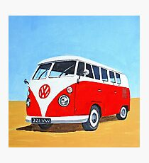 Volkswagen - Let's Go Travelling Photographic Print