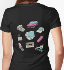 90s paradise by Elebea Women's Fitted T-Shirt