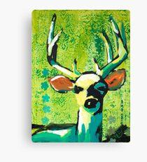 Deer With Orange Ears Canvas Print