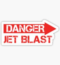 Danger Jet Blast Sticker