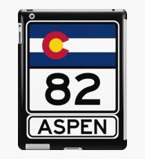 CO-82 - Aspen, Aspen Road Sign iPad Case/Skin