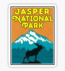 Jasper National Park Alberta Canada Moose Nature Laptop Sticker
