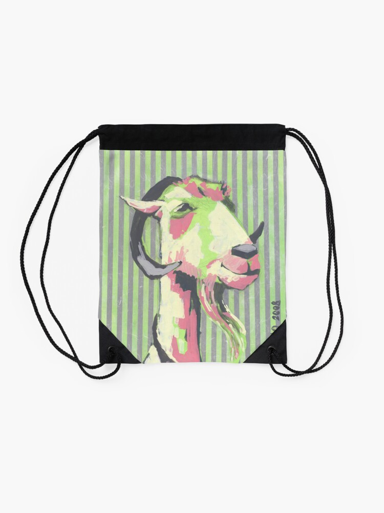 Alternate view of Arthur the Goat Drawstring Bag