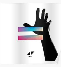 avicii hand up electronic Poster
