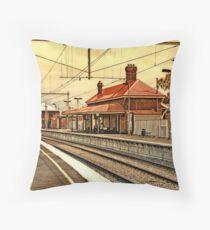 Yarraville Station -- Victoria, Australia Throw Pillow