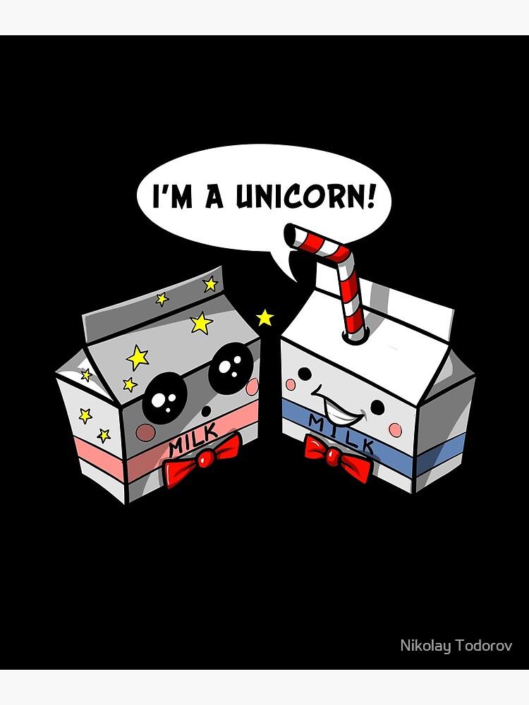 64643c45 Milk Carton Unicorn Straw