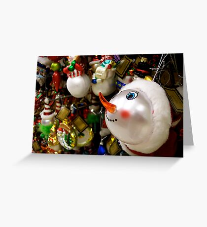 I Want The Snowman! Greeting Card