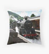 BR Tank Engine - Llangollen Throw Pillow