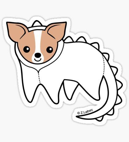 Little Dinosaur Chihuahua Sticker