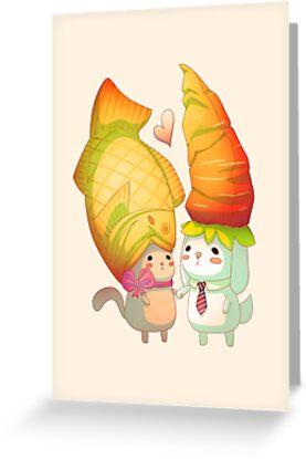 Taiyaki and carrots by BumbleBeesh