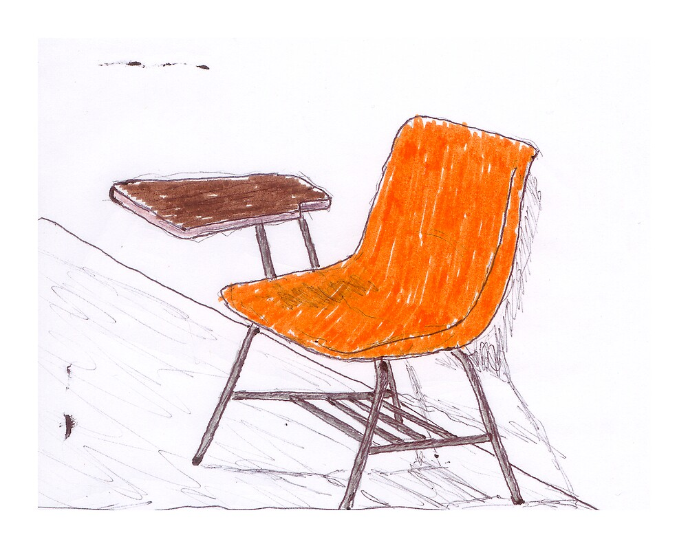 Orange Chair by Luis Enrique Cuéllar Peredo
