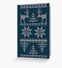 nordic knit pattern Greeting Card