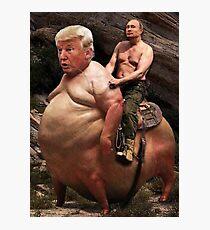 Putin reitet Trump Fotodruck
