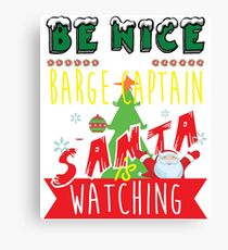 Funny Barge-Captain Xmas Christmas Gift Idea Canvas Print