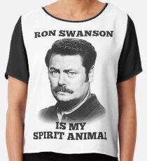 Ron Swanson is my spirit animal Chiffon Top