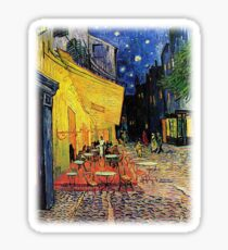 The Cafe Terrace on the Place du Forum, Arles, at Night,  Vincent van Gogh Sticker